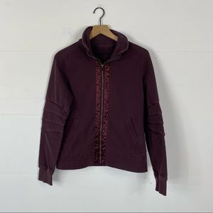 Lululemon Burgundy Full Zip Jacket Size 6